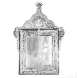 Engraved and antiqued mirror in Venetian style