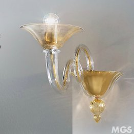 Wall lights with 24k gold decoration