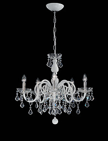 White and crystal Bohemia style chandelier
