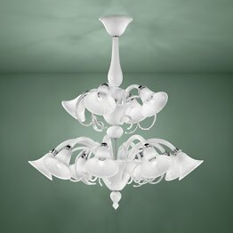 Twelve lights chandelier white color