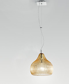 Modern suspended lamp in amethyst color