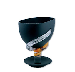 Black satin glass cups