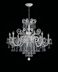 Crystal and white bohemia style chandelier