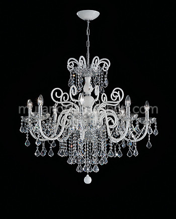 Crystal bohemia style chandelier in amber color