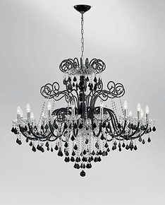 Black and crystal bohemia style chandelier