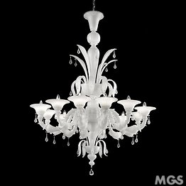Ca' Rezzonico chandelier in black color and crystal