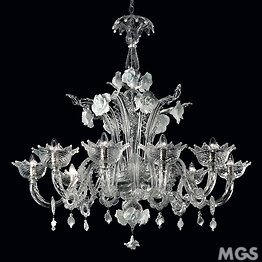 Crystal chandelier with white paste