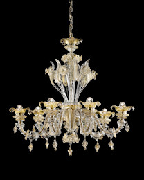 Ca' Rezzonico chandelier in crystal and gold