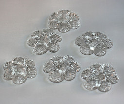 Crystal flower diameter of 3.5cm