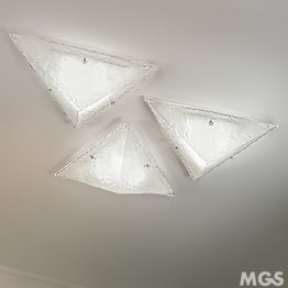 Monolith ceiling lamp in opaque crystal