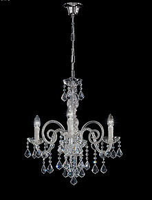 Bohemia style crystal chandelier at three lights