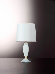 Table lamp with silk color with gold