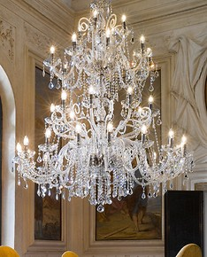 Crystal chandelier thirty-six lights