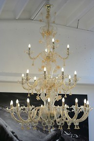 Chandelier with 24k gold