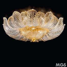 Crystal graniglia ceiling lamp