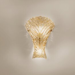 Crystal with 24k gold wall light