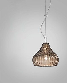 Modern suspended lamp in smoked color