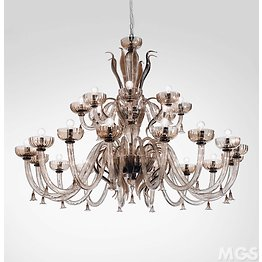 Chandelier in smoked crystal color