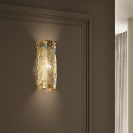 Wall light in crystal and 24k gold