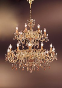 Bohemia style chandelier with amber decoration