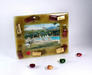 Gold colored photoframe