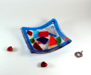 Carnival bowl with murrine 12x12 cm