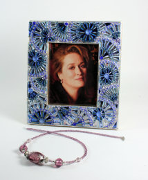 Mosaic Photo-frame, blue colour