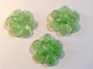 Crystal and green flower diameter of 5,5cm