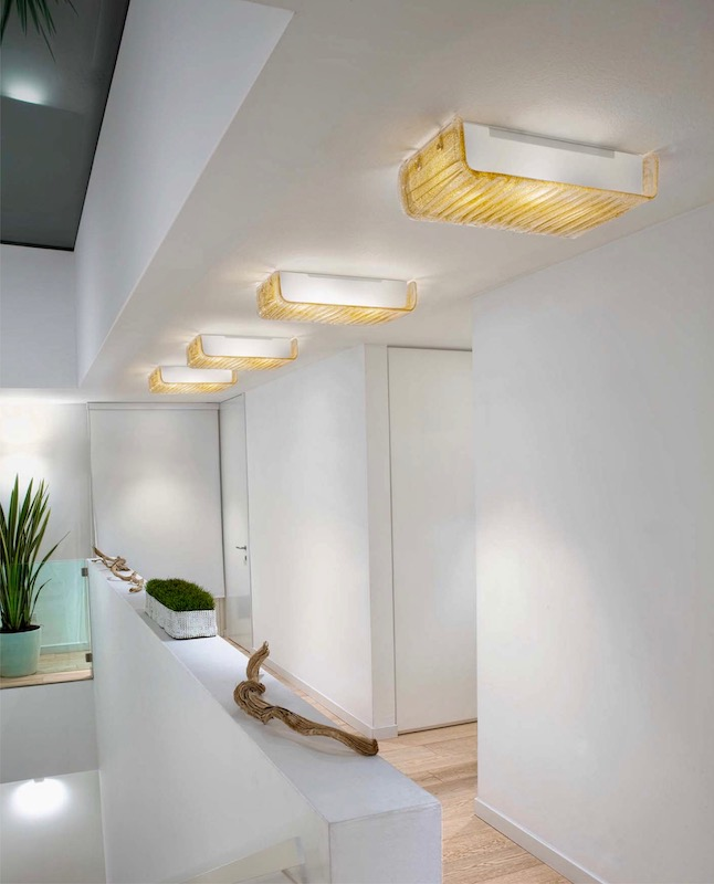 Ceiling lamps in a modern style home