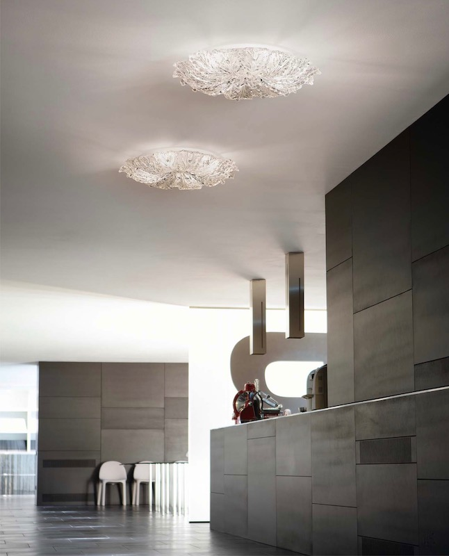 Ceiling lamps in a modern style house
